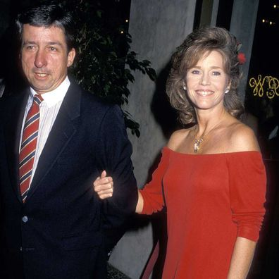 Jane Fonda and Tom Hayden in 1987.