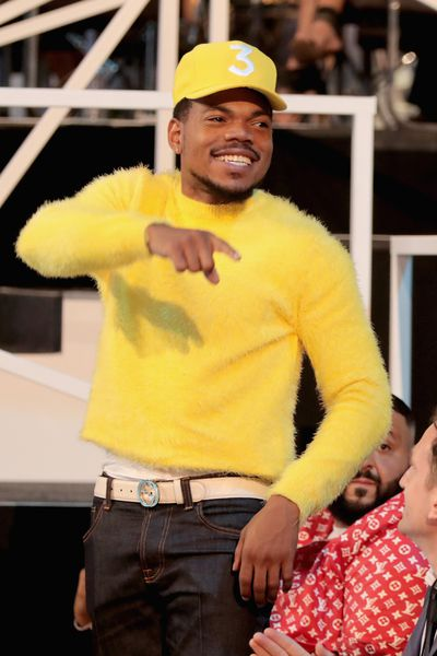 Chance The Rapper in... yellow at the MTV VMAs, August 27 in LA.