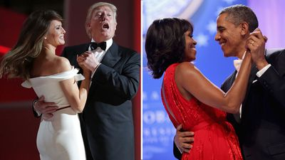 Donald Melania Trump Barack Michelle Obama