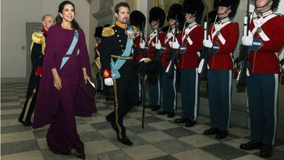 Princess Mary attends Queen Margrethe's New Year's Banquet, January 2018