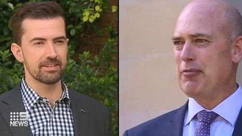 9News has confirmed at least two leadership contenders: Dean Nalder (right) and Zac Kirkup.