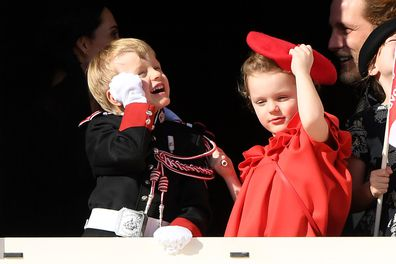 Monaco royal family celebrate National Day Princess Charlene Prince Albert royal twins