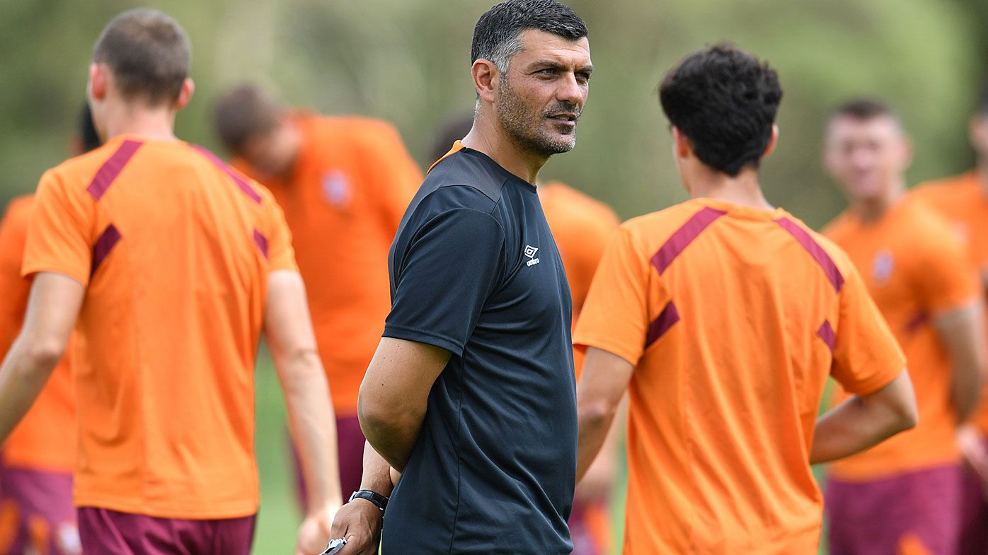 John Aloisi at Brisbane Roar training
