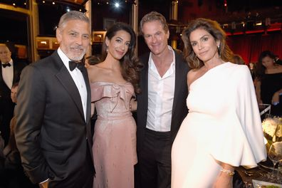 George Clooney, Amal Clooney, Rande Gerber and Cindy Crawford during the American Film Institute's 46th Life Achievement Award Gala Tribute to George Clooney in 2018.