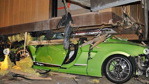 Drunk driver smashes lime green Lamborghini
