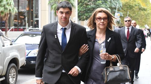 Ms Kontozis' son Daniel Boyd was in court today with family and supporters to hear the sentencing. (AAP).