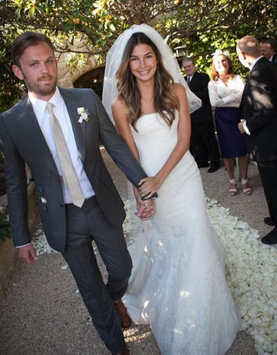 "<p>Lily Aldridge&nbsp;and  Caleb Followill, 2011</p> <p>The bride wore - Vera Wang<br style=""box-sizing: border-box;""> </p>"