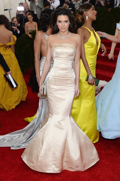 Kendall Jenner in Topshop at the 2014 Met Gala.
