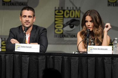 Without even trying, Colin Farrell and Kate Beckinsale smoulder during their <i>Total Recall</i> panel.
