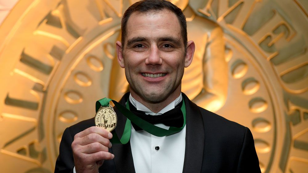 Melbourne Storm captain Cameron Smith wins 2017 Dally M medal