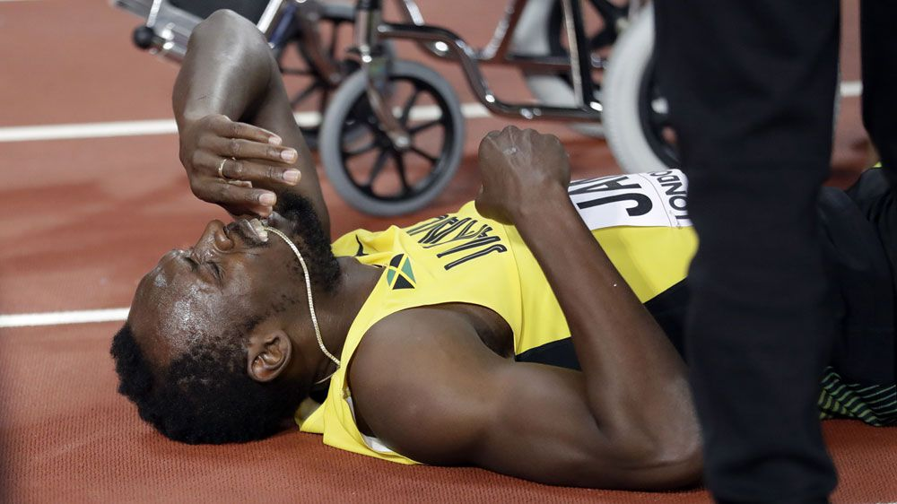 Athletics: Sad farewell for injured Bolt as Britain win 4x100m relay