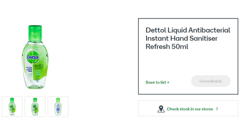 Woolworths have confirmed that their Australian stores are completely sold out of all sanitiser products.