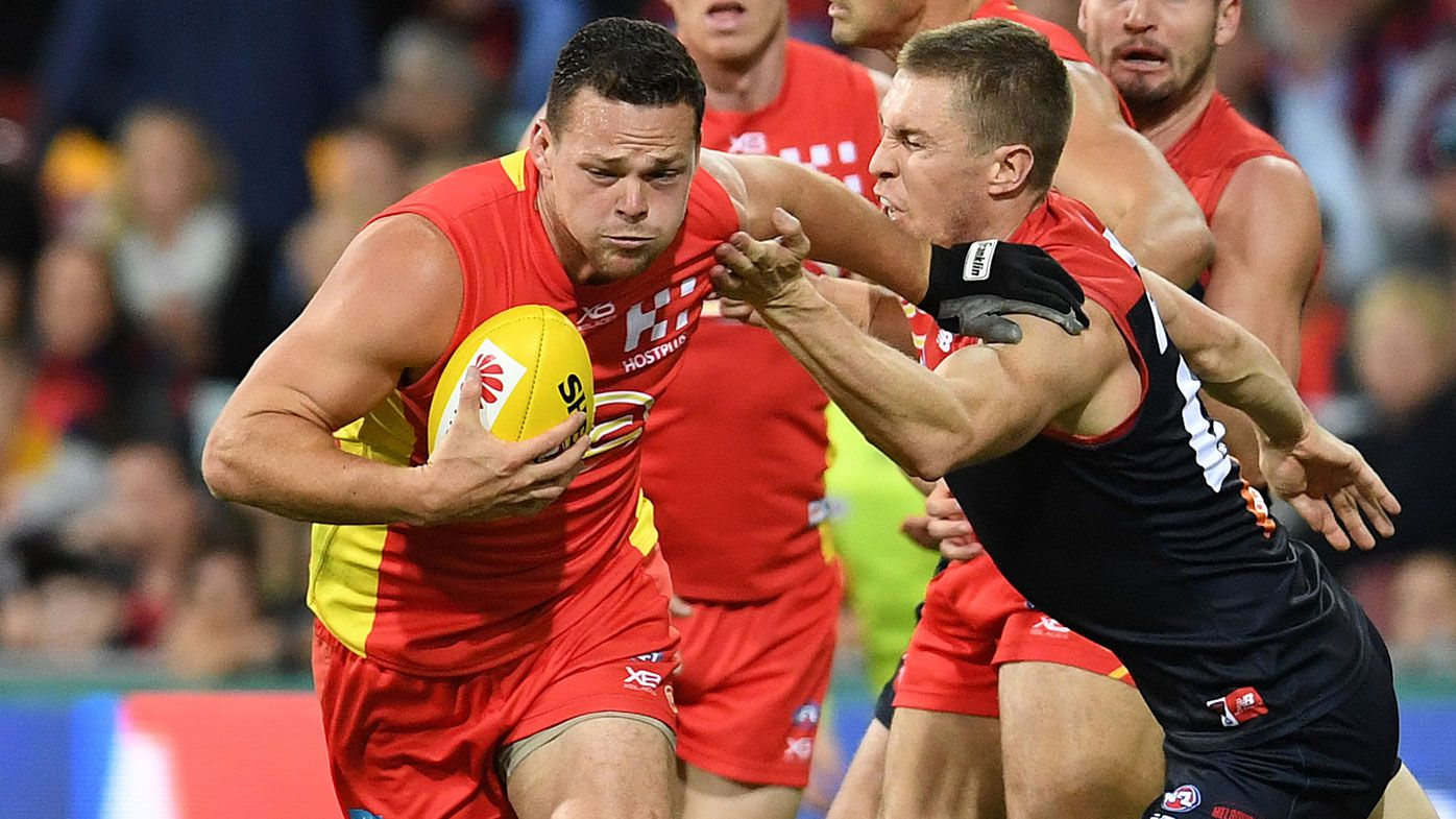 Gold Coast Suns' Steven May misses AFL ban for umpire touch