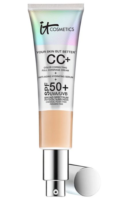 """<p><a href=""""https://www.sephora.com.au/products/it-cosmetics-your-skin-but-better-cc-cream-with-spf-50-plus/v/medium"""" target=""""_blank"""" title=""""ITCosmetics CC Cream, $61"""">ITCosmetics CC Cream, $61</a></p> <p>This highly pigmented, multi-tasking CC cream covers everything, won't crease or crack and finished with a healthy-looking glow.&nbsp;</p>"""