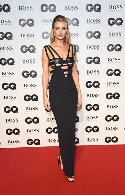 Rosie Huntington-Whiteley in Versace at the 2018 GQ Men of the Year Awards