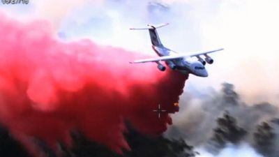 Bushfire is burning out of control in rural NSW
