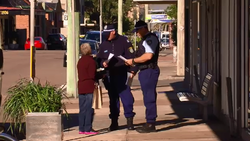 Police are searching Stockton and surrounding areas for a disability pensioner who disappeared after winning big on the pokies.