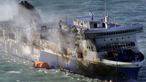 Lifeboats caught alight on the Norman Atlantic ship which travelled from Italy to Greece in 2014, meaning some of the 500 passengers had to be evacuated by helicopter.