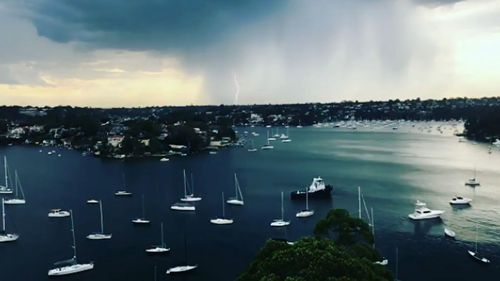 The damaging storm cell moved through around 6pm last night. (9NEWS)