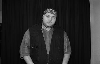Rapper Prince Markie Dee poses for photos backstage at the Marcus Amphitheatre in Milwaukee, Wisconsin in May 1993.