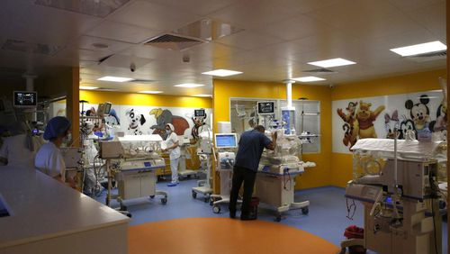 The premature infant ward at the clinic in Morocco.