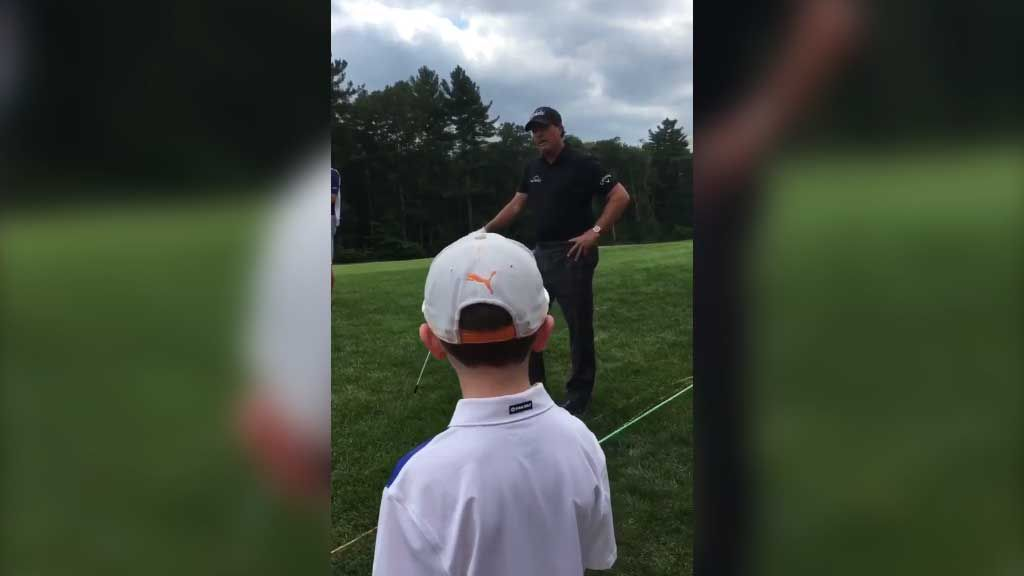 Kid's clever advice for Mickelson