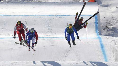 Chris Del Bosco loses control in mid-air. (AAP)