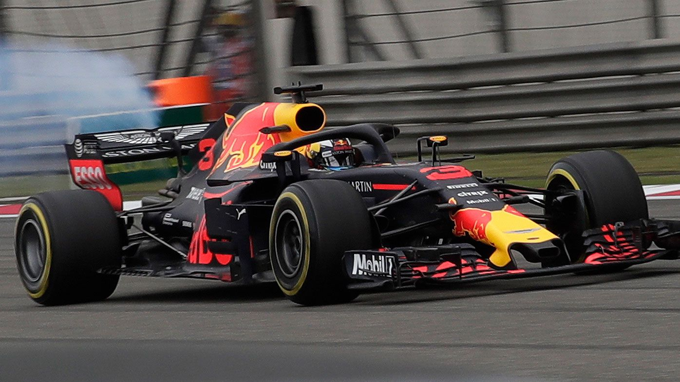 Daniel Ricciardo suffers a blown Renault engine