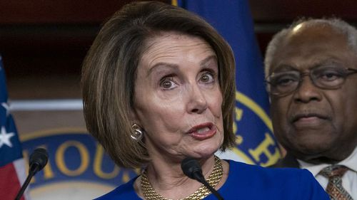 """Speaker of the House Nancy Pelosi said she believed Trump had engaged in a """"cover-up""""."""