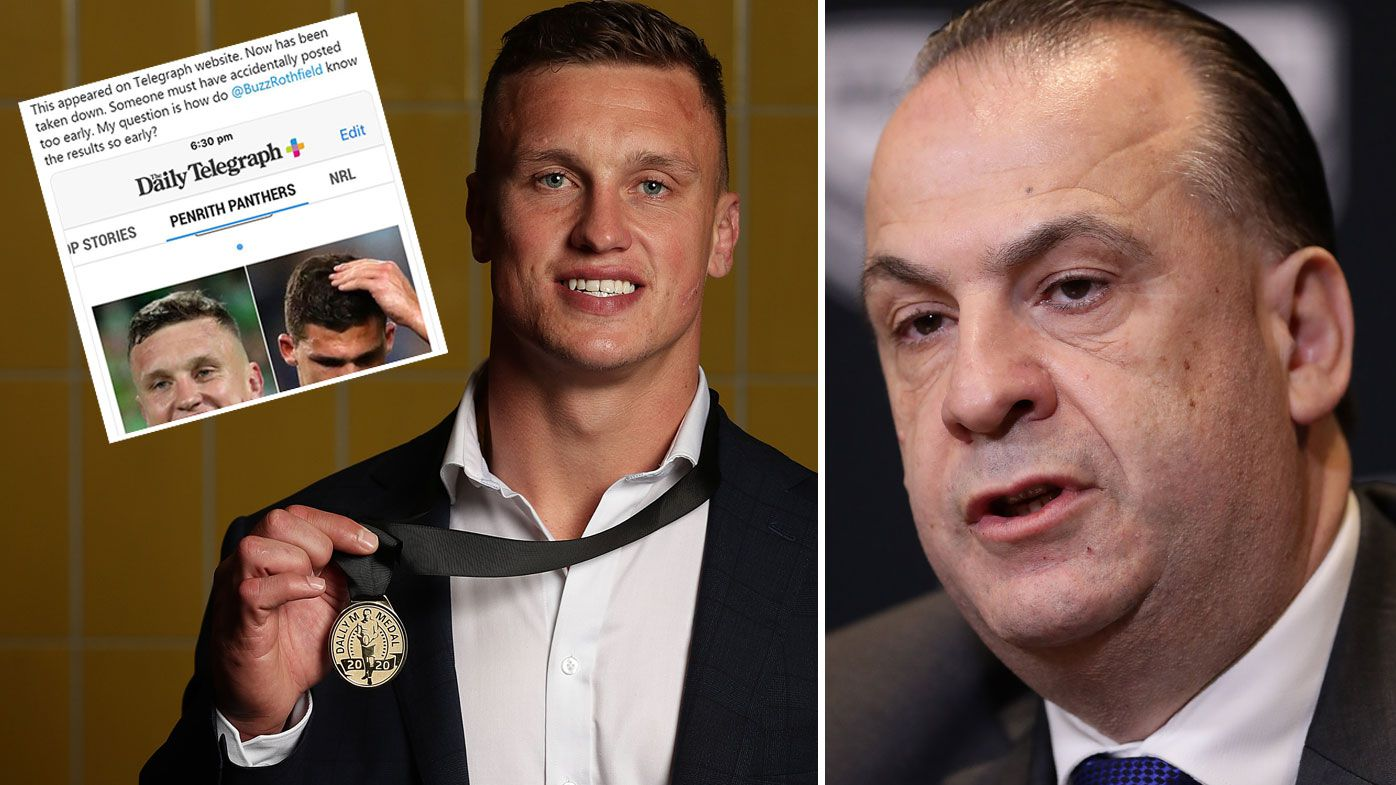 NRL to launch investigation into Dally M Awards leak 'stuff-up', Panthers also livid