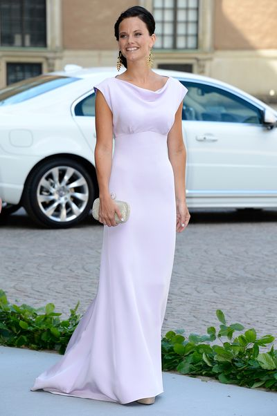Princess Sofia of Sweden at the wedding of Princess Madeleine of Sweden and Christopher O'Neill in Stockholm, Sweden, June, 2013