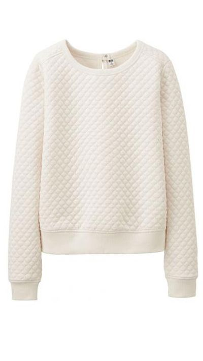 "<a href=""http://www.uniqlo.com/au/store/women-quilt-long-sleeve-pullover-1393470005.html#colorSelect"" target=""_blank"">Quilt Long Pullover, $39.90, Uniqlo </a>"