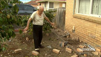 Car slams into home metres away from sleeping grandfather