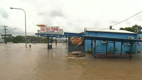 Businesses and homes have been inundated by the north Queensland floods. (9NEWS)