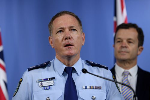 Police Commissioner Mick Fuller visited the detective in hospital today. (AAP)