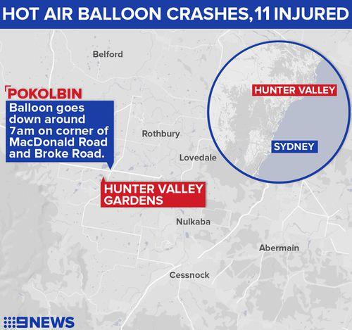 Where the crash occurred. (9NEWS)