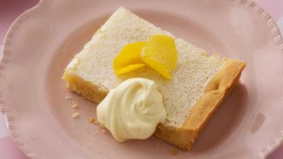 <strong>Lemon coconut slice</strong>