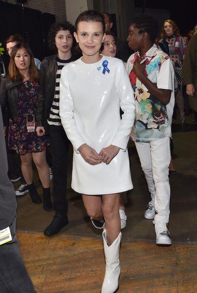 Millie Bobby Brown in Calvin Klein atthe 2017 MTV Movie & TV Awards in Los Angeles
