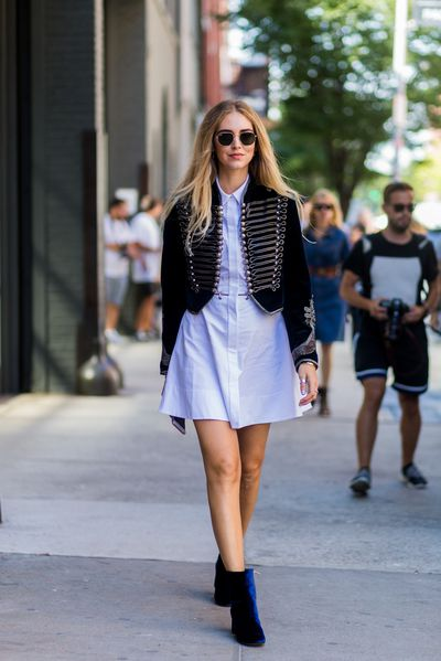 Chiara Ferragni at outside Rodarte at New York Fashion Week