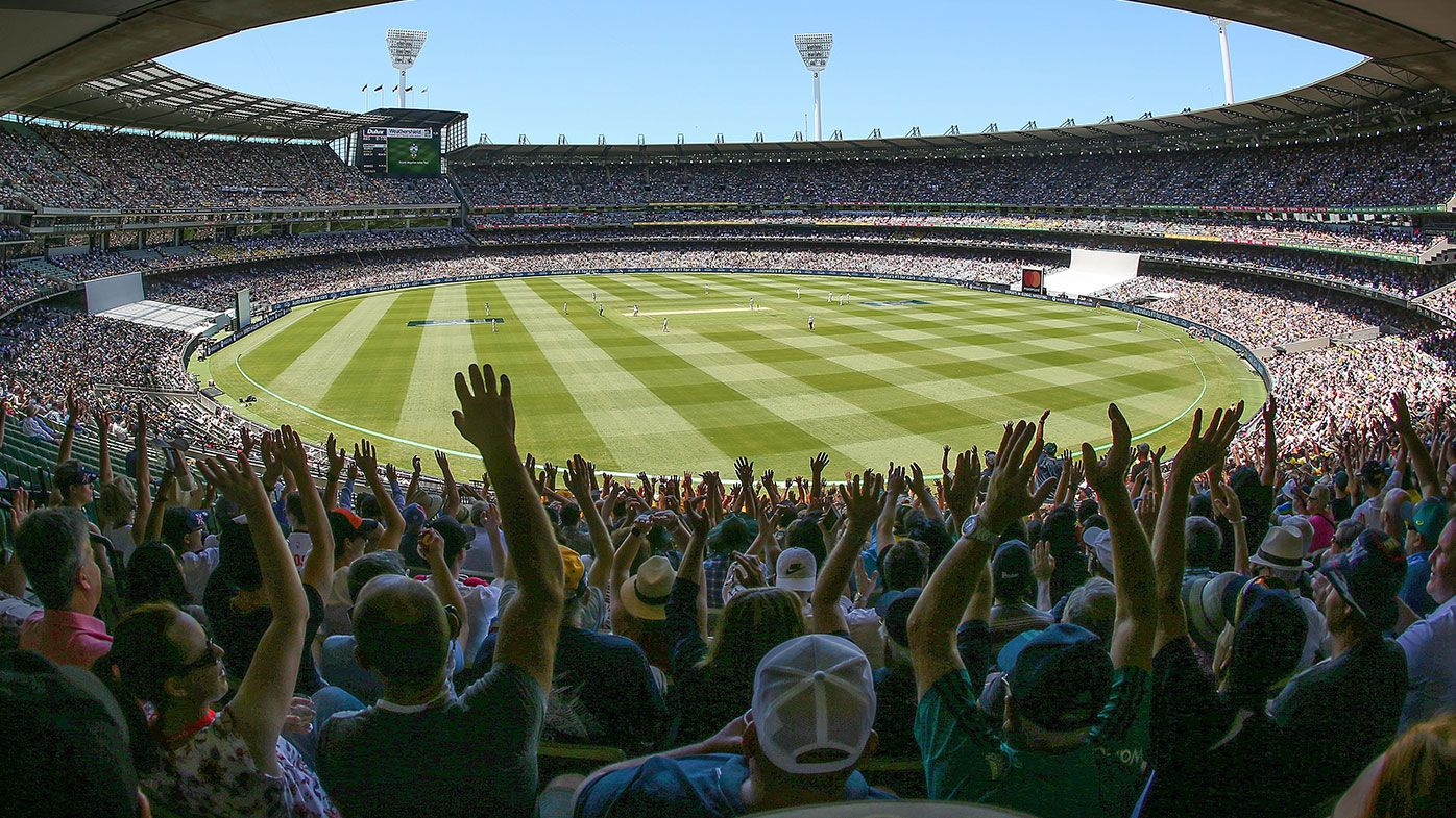 A general view as cricket fans in the crowd of 88,172 enjoy the atmosphere on Boxing Day during day one of the Fourth Test Match in the 2017/18 Ashes series between Australia and England at Melbourne Cricket Ground on December 26, 2017