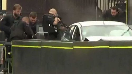 Armed police swooped on his vehicle on St Margaret Street following the collision and apprehended him.