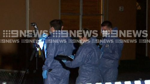 Detectives at the scene on the weekend. Picture: 9NEWS