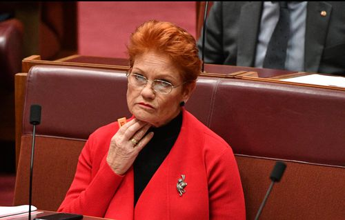 "Pauline Hanson has defended her right to ""flip-flop"". Picture: AAP"
