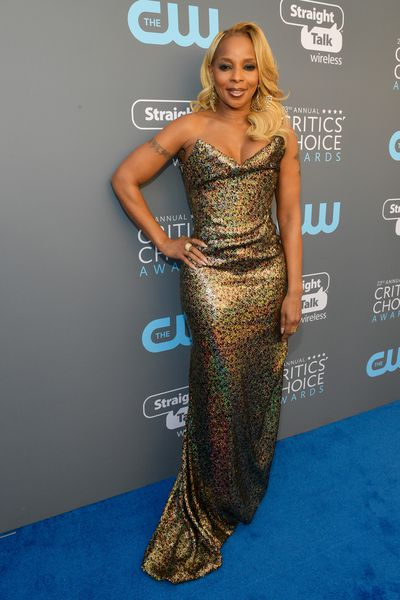 Singer Mary J. Blige  at the 2018 Critics Choice Awards