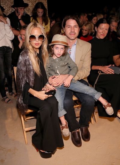 Rachel Zoe and Rodger Berman at Tommy Hilfiger.