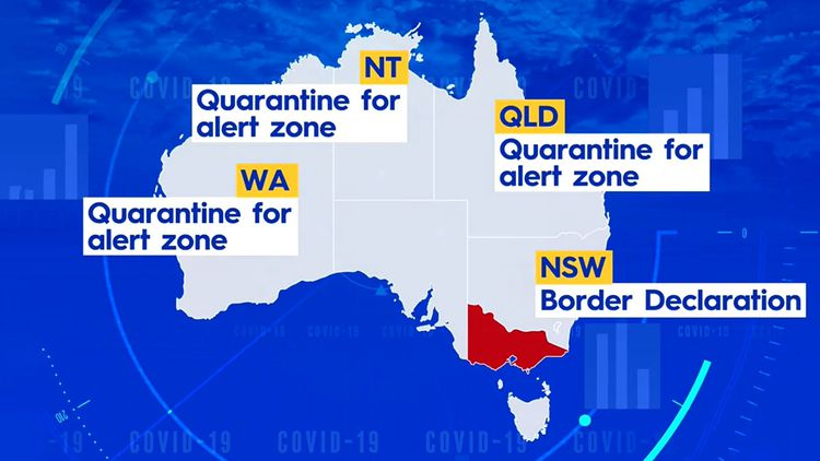 Coronavirus Border Restrictions State By State Border Measures After New Local Covid 19 Case In Victoria Guide