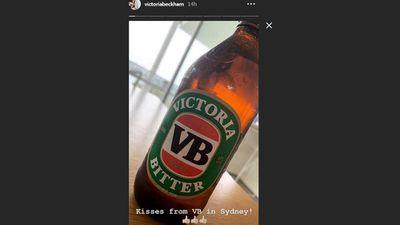 Victoria Beckham embraces Aussie tradition