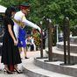 Harry and Meghan leave heartfelt note at war memorial