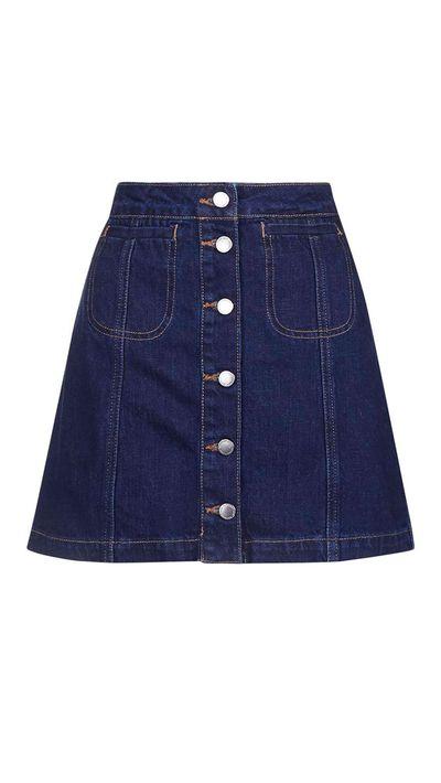 10. A denim skirt