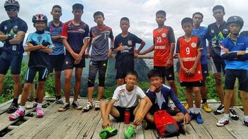 Photo of boys trapped in Thailand cave Tham Luang